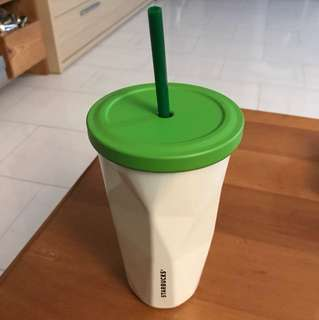 BN Starbucks Stainless Steel Tumbler with Green lid and Straw