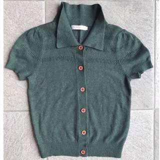 Topshop knit hijau army S