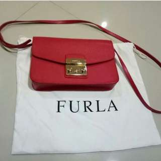 FURLA RED SHOULDER BAG