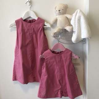 Sisters matching outfit (Suitable for 9-24months and 2-4years old) Authentic Chateau De Sable Pink dresses