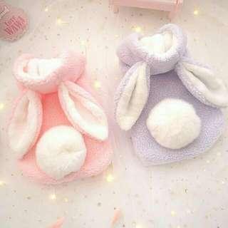 🚚 L號 兔子造型寵物衣服 珊瑚絨寵物服飾 貓衣服 狗衣服 原價490元