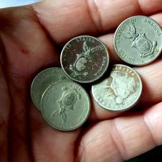 5 Centavos Coins,1945,Vintage