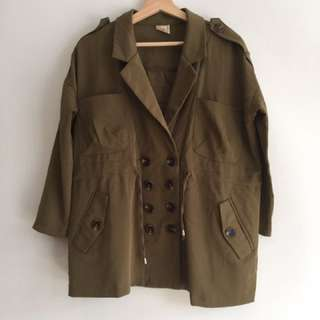NEW Women's parka dark green, jaket parka wanita, size M