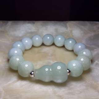 13mm Jade Bracelet with Wu Lou