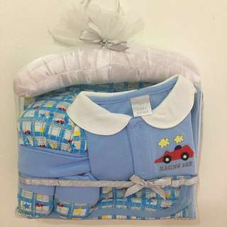 Retail $29.90 Similar Set! Happy Time 5 Pieces Baby Gift Set (Blue Color Suitable For Newborn Baby Boy 0-3 Months)
