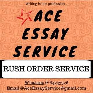 Rush orders 🎓 essays assignment