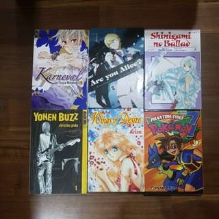 Assortment of Manga