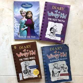 Diary Of A Wimpy Kid book // Frozen book