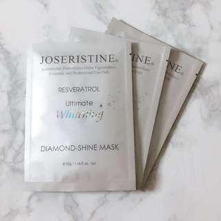 [INSTOCK] Joseristine Resveratrol Ultimate Whitening Diamond-Shine Mask