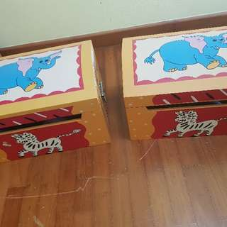 2 sets of Kiddy Wooden Chest