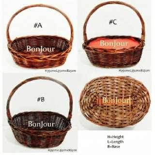 Rattan Baskets Hampers Brown Colour Sellzabo Wrap