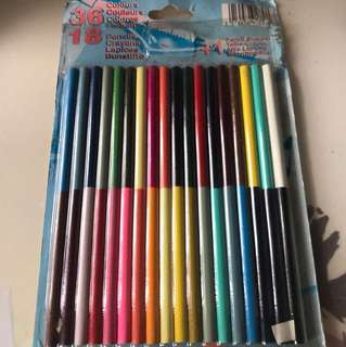36色木顏色筆