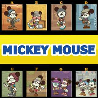 Mickey Mouse Hipster Minnie Ref Magnet Display Collectible Giveaway Souvenir