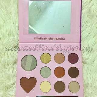 Melissa michelle eyeshodow palette with lipscream