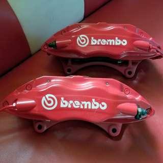 Brembo4PO鮑魚8成新適合大部分車輛安裝
