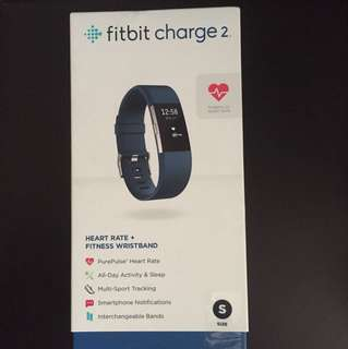 Fitbit Charge 2 Blue Small Size (Brand New Sealed)