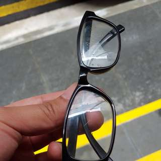 LOST and FOUND: A pair of black spectacles