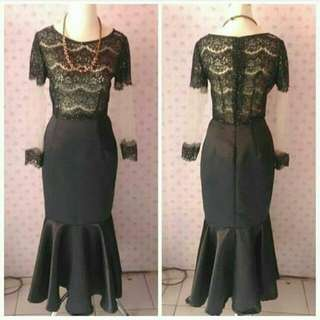 Dress Mermaid Hitam