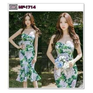 CODE: MF-1714 D&G Green Bodycon Dress