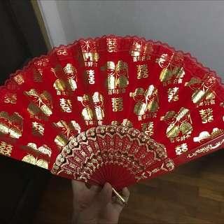 Wedding Red Fan