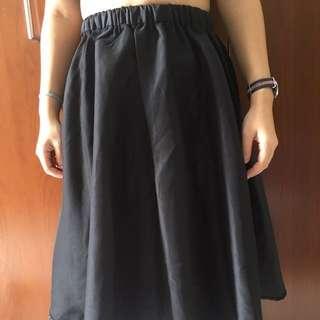 Zalora black skirt