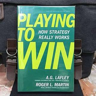 # Highly Recommended 《Bran-New Hardcover + Harvard Business Review Press + Powerful Framework That Demystifies and Simplifies Strategy》A.G.Lafley & Roger Martin - PLAYING TO WIN : How Strategy Really Works
