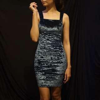 Blue Velvet Miss Selfridge Bodycon Dress