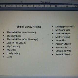 Ebook Zenny Arieffka