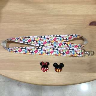 Handmade Tsum Tsum lanyard with brooch (choose 1 brooch)