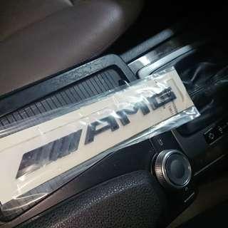 AMG啞黑色車貼