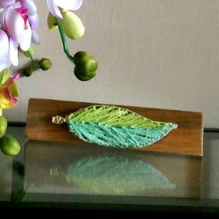 DIY String art- leaf