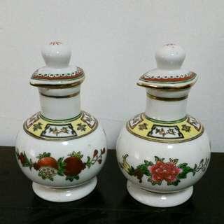 Rare Vintage Sauce/veniger bottle x the pair