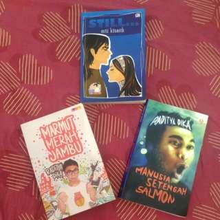 Novel Raditya Dika + teen lit (take all)