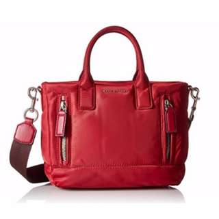 AUTHENTIC Marc Jacobs women's bag mallorca small tote satchel sling crossbody red