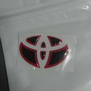 豐田車章貼