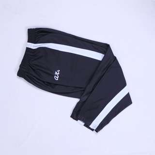 trackpants by ar. white line unisex (cewek/cowok)