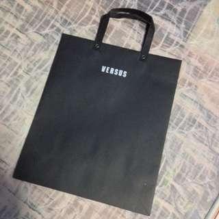 Versus (by Versace) Big Black Paper Carrier Bag