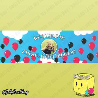 Baby Shower Theme PVC Banner For Sale | For Boys | 20 x 60 Inch | Jolly Box 98573128