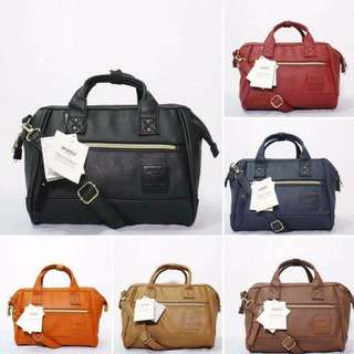 Anello Leather Mini Boston Bag