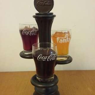 可口可樂 Coca Cola 蠟燭座(包2個可樂+1個芬達燭)