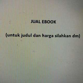 Jual Ebook (Untuk Judul Mohon DM)