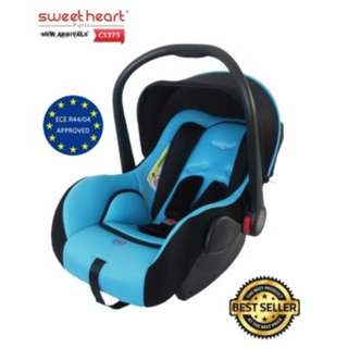 Sweet Heart Paris Baby Car Seat with Adjustable Canopy CS375 (New Blue)