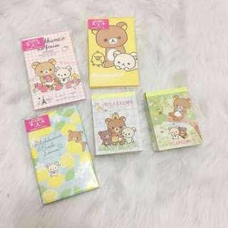 Rilakkuma mini envelopes & notepads