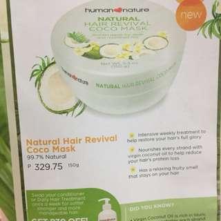 Natural hair revival cocomask