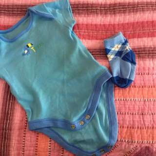 Baby Romper with Socks Mothercare