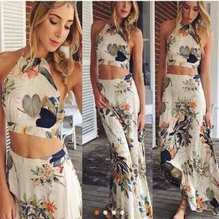 boho two piece dress ordered from china