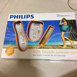 BNIB Philips HP6540 Limited Edition Gold Epilation Set