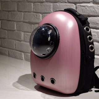 """Megapink"" Astronaut Capsule Cat Bubble Backpack Carrier"