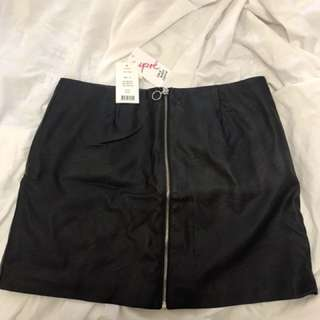Zip leatherette Skirt