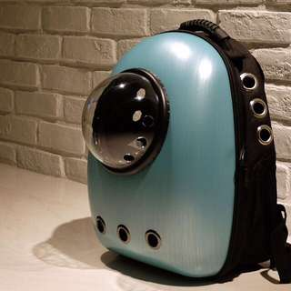 """Megacyan"" Astronaut Capsule Cat Bubble Backpack Carrier"